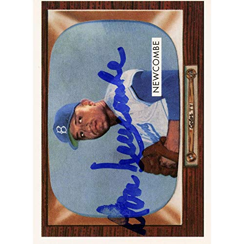 Don Newcombe Brooklyn Dodgers Autographed Baseball Card - Autographed Baseball Cards Don Newcombe Autographed Baseball