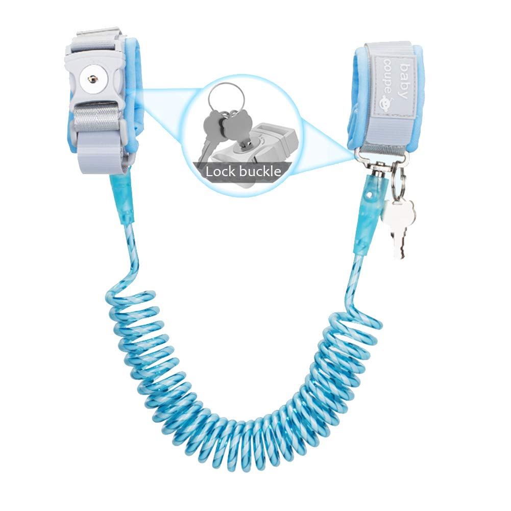 Wrist for Toddler, Lost Rope, Reflective Anti-Lost Rope Anti-Missing Wrist Chain 360°Rotate Comfort Adjustable Children Safety Harness Outdoor -Blue 1.5m