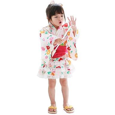 c01fda8bb96df 椿街道 浴衣ドレス 子供 浴衣ドレス+兵児帯 ベビー 女の子  リトルプリンセス  Little