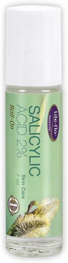 Life-flo Salicylic Acid 2% Roll-On | Clarifies, Brightens & Smooths Skin | Reduces Look of Fine Lines & Wrinkles | 7mL