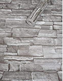 Klebefolie Steinoptik Mauer grau weiß Möbelfolie selbstklebende Folie 45x200 cm