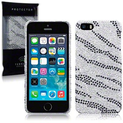 Etui / Housse diamants pour Apple iPhone 5 Zèbre
