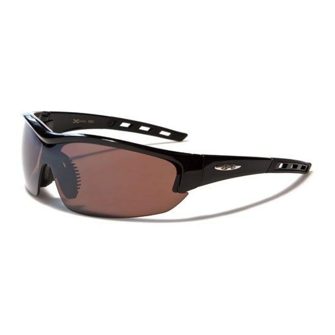 X-Loop Semi-Rimless Mens Shield Style Sport Sunglasses