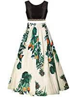 SKY WORLD Girl's Benglori Silk Semi-stitched Lehenga (SW_572)