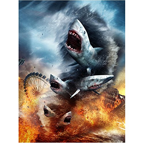 Sharknado Destroying Santa Monica Pier Promo 8 x 10 Inch Photo]()