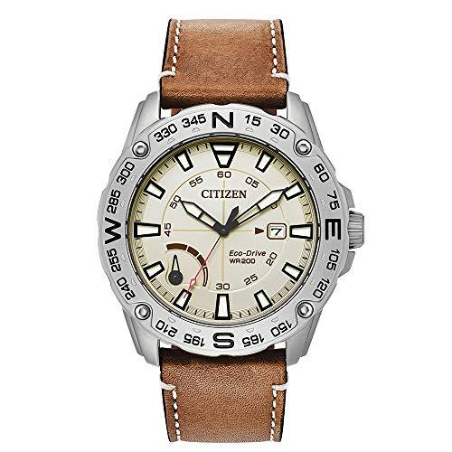 Citizen Men's AW7040-02A Matte Silver Leather Japanese Quartz Sport Watch