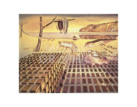 (The Disintegration of The Persistence of Memory, 1952-54 by Salvador Dali, Art Print Poster - Paper Size 11