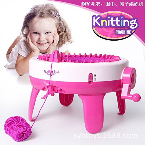 "å""牌å Hand Crank Knitting Machine, 40-pin Large Circular Weaving Machine, Kids Educational Learning Toy Knitting Tools, Adult Children's Scarves and Hats +3 Bundles of Wool"