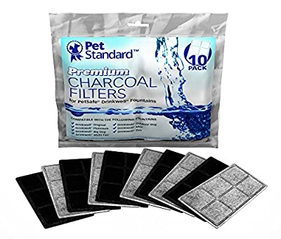 Premium Charcoal Filters for PetSafe Drinkwell Fountains, Pack of 10 by PetStandard