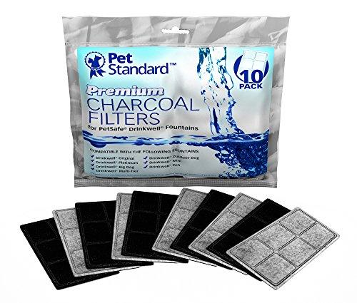 PET STANDARD Filtros de carbón de primera calidad para fuentes PetSafe Drinkwell, paquete de 10