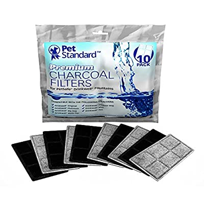 Cat Water Fountain PET STANDARD Premium Charcoal Filters for PetSafe Drinkwell Fountains,... [tag]