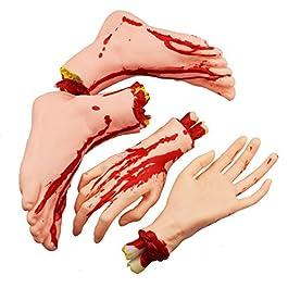Halloween abgetrennte Hände Füße Set