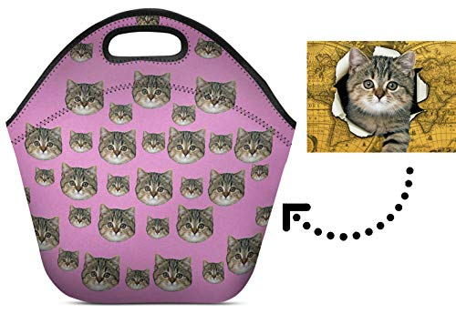Your Photo Cats Reusable Insulated Neoprene Lunch Tote Bag Cooler 11.93