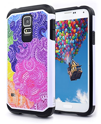 NageBee Hybrid Phone Cover Case for Samsung Galaxy S5 - Hybrid Rainbow Illusion