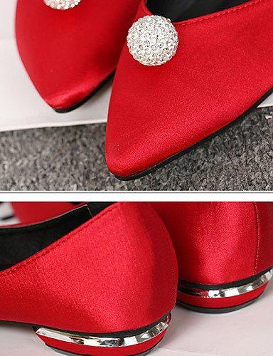 PDX/ Damenschuhe - Ballerinas / Halbschuhe - Kleid / Lässig / Party & Festivität - Seide - Niedriger Absatz - Komfort - Schwarz / Rot / Grau gray-us5.5 / eu36 / uk3.5 / cn35