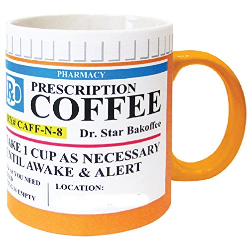 Mug The Prescription Coffee Mug, Ceramic, Funny Gift - 12 Ounce Coffee and Tea Cup (Pill Bottle Mug)
