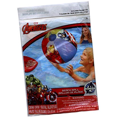 New Marvel Heros & DC Comics Avengers Inflatables 3 Pieces Beach Balls Size 20 (Captain America New Costume Marvel Now)
