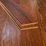 Ambient Bamboo - Bamboo Flooring Sample, Color: Carbonized 3 FT Lengths, Engineered Click Lock