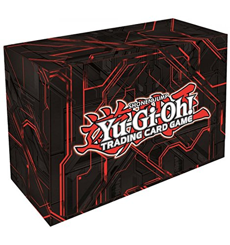 Konami Yugioh Card Game Storage Dual Double Deck Box (Version #3 - Red Zexal) ()