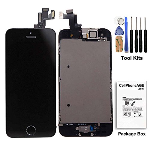 iphone 5s screen repair kit black - 5