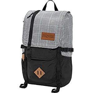JanSport Unisex Hatchet Special Edition Black/White Suited Plaid Backpack