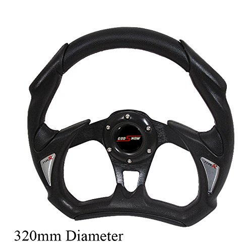 Toyota Steering Wheels (Rxmotor Universal Fit 320mm JDM Battle Racing Steering Wheel New - Acura Honda Toyota Mazda Mitsubishi etc (BLACK))
