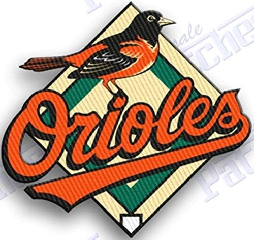 BALTIMORE ORIOLES IRON ON EMBROIDERED PATCH MLB BASEBALL