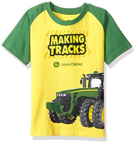 John Deere Big Boys' Making Tracks Tee, Yellow/Green, 6