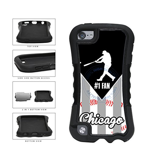 Chicago Black and White Baseball Number One Fan 2-Piece Dual Layer Phone Case Back Cover For Apple iPod Touch 5th Generation comes with Security Tag and MyPhone Designs(TM) Cleaning Cloth