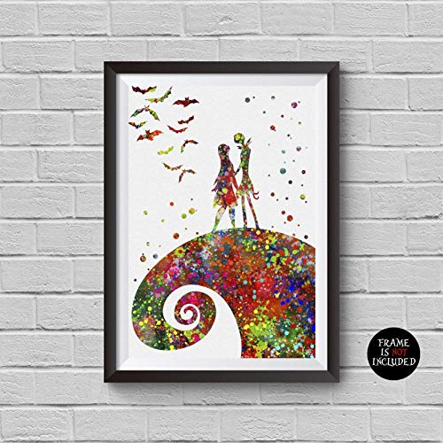The Nightmare Before Christmas Watercolor Print Jack and
