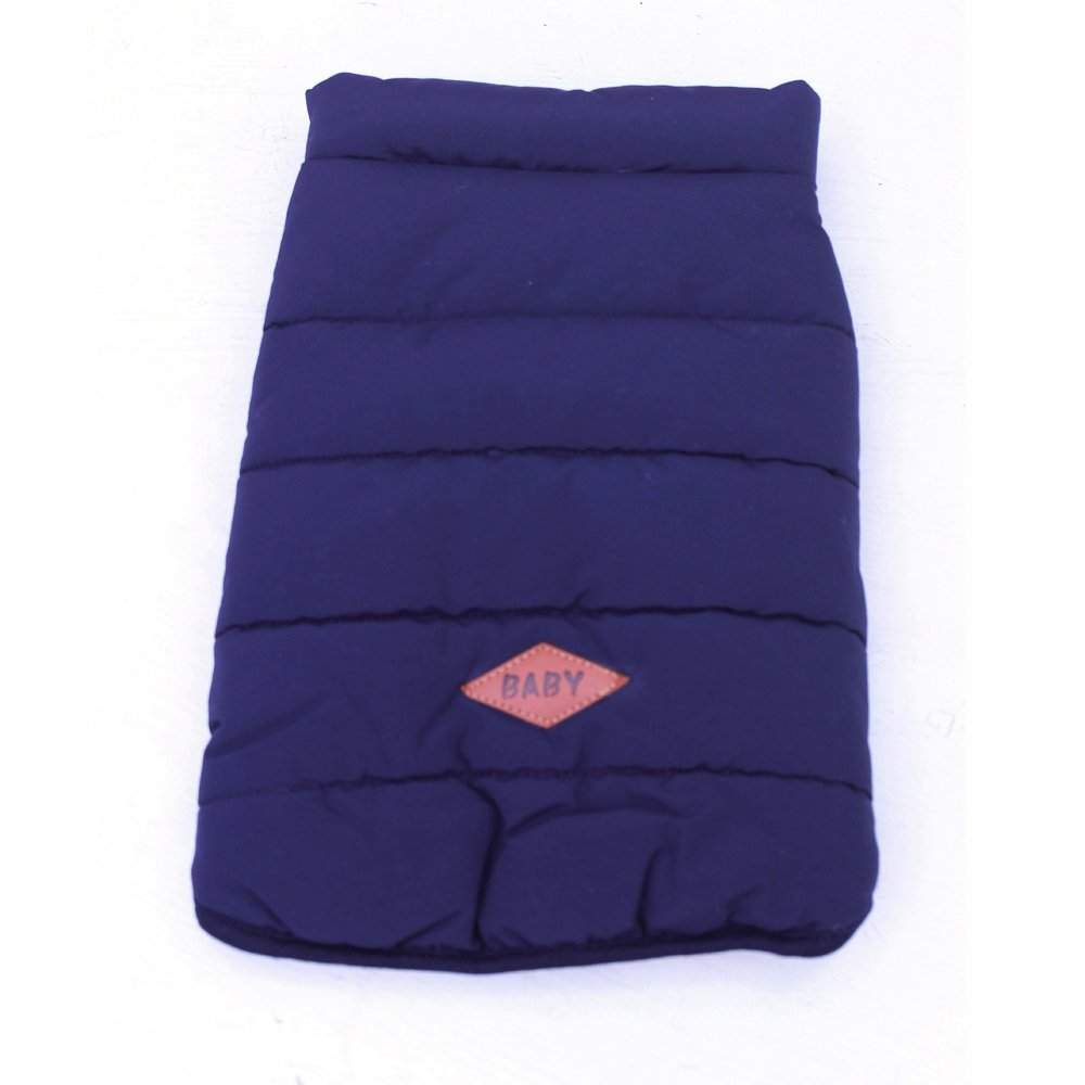 Navy XL Navy XL Pet Clothes Dog Winter Coat Jacket for Cold Weather, Cotton-Padded Clothes Vest, Simple and Fashionable, Warm and Cosy (XL, Navy)