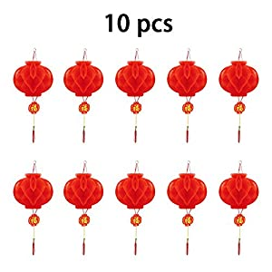 """Chinese Red Lanterns, 7.9"""" (20 cm) 10 pcs (More Size) For New Year, Chinese Spring Festival, Wedding, Festival, Restauran Decoration"""