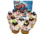 (US) Nickelodeon Blaze and the Monster Machines Deluxe Mini Cake Toppers Cupcake Decorations Set of 13 Figures with Blaze, JR, Gabby, 9 other Monster Machines and More!