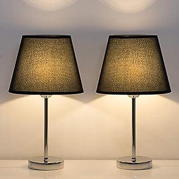 Amazon Com Haitral Modern Table Lamps Bedside Desk Lamp