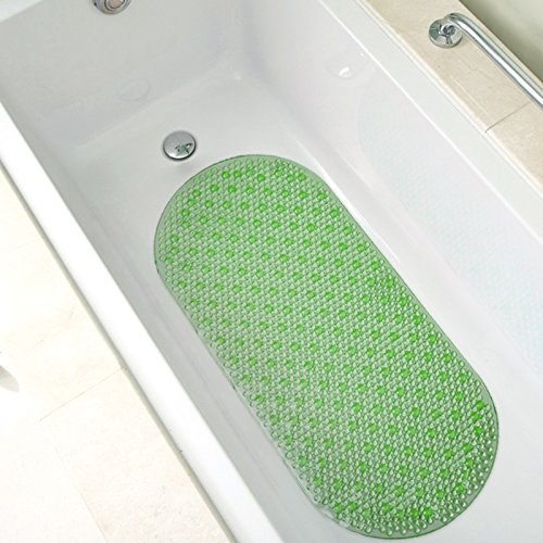 "Bath Mat Non Slip (35""x15"") Extra Long, Cushioned (Green)"