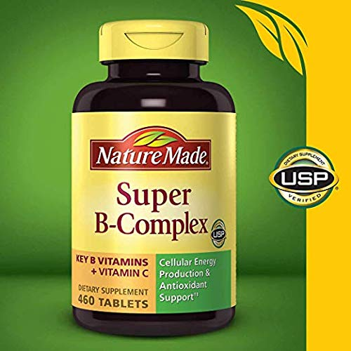 Nature Made Super B Complex + Vitamin C Tablets,