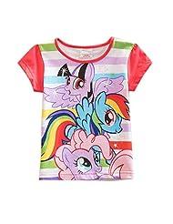 LEMONBABY My Little Pony Baby Girls' Short Sleeve Cotton T-shirts With Horses