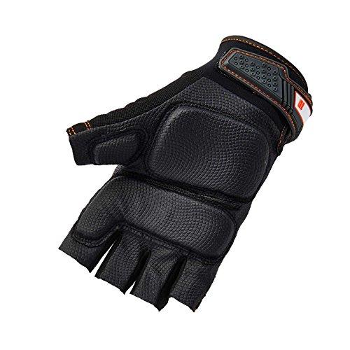 Ergodyne ProFlex 900 Impact Protection Work Gloves, Padded Palm, Half-Finger, X-Large by Ergodyne (Image #2)