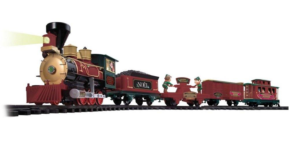 EZTEC 37297 North Pole Express Christmas Train Set - 33 Piece