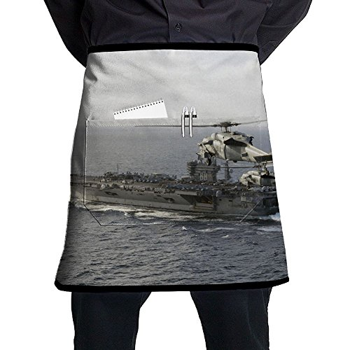 USS Nimitz Sikorsky SH-60 Seahawk Adjustable Apron With Pocket For Grilling  Bacon Chef Waitress 6670ffe97