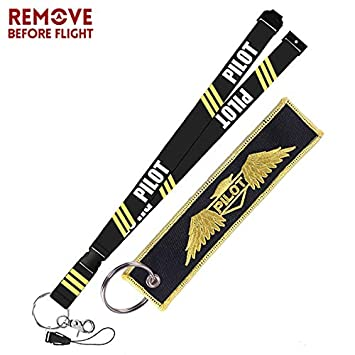 Amazon.com : Key Rings Remove Before Flight Aviation Gifts ...