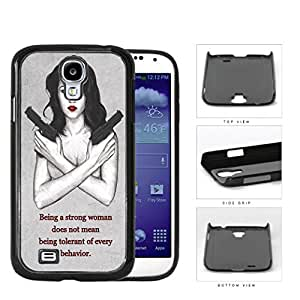 Strong Woman With Guns Sketch Hard Plastic Snap On Cell Phone Case Samsung Galaxy S4 SIV I9500