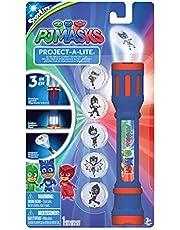 PJ Masks 40345 projectiezaklamp met 6 verwisselbare lenzen om te projecteren, kleurrijk