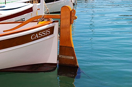 (Traditional Boat with Wooden Rudder by Per Karlsson/Danita Delimont Art Print, 30 x 20 inches)