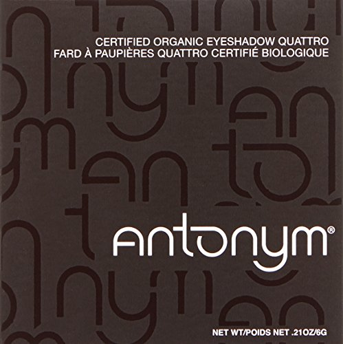 Antonym Cosmetics Ecocert Certified Eyeshadow Quattro, Croisette, Peach