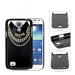 Black Shirt And Cuban Link Gold Chains Hard Plastic Snap On Cell Phone Case Samsung Galaxy S4 SIV Mini I9190