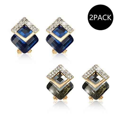 Deco Style Clip Earrings - 9