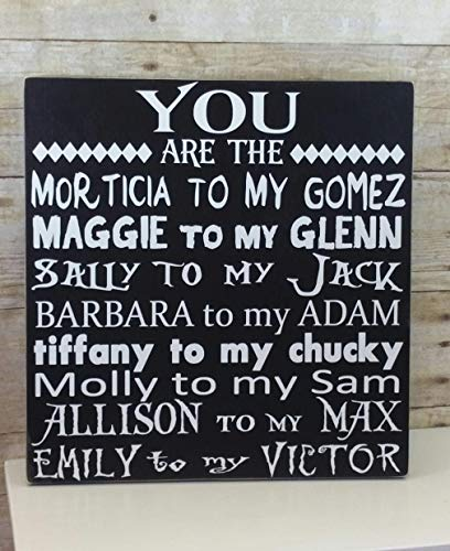 Halloween Sign - You are the. Scary Movie Edition - Anniversary Gift for Her - Wedding Gift or Wedding Decor! -