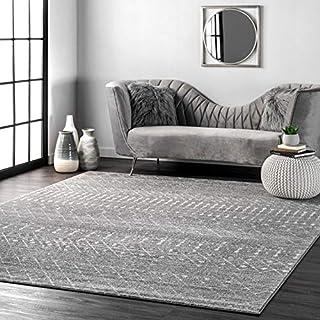 """nuLOOM Moroccan Blythe Area Rug, 5' x 7' 5"""", Dark Grey"""