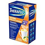 Theraflu Nighttime Severe Cold and Cough Hot Liquid Powder Honey Lemon Infused with Chamomile and White Tea Flavors 6 Count Box